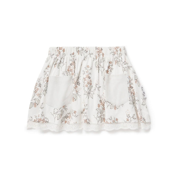 Summer Floral Lace Skirt