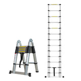Herzberg HG-5440: Retracting Aluminum Telescopic Ladder - 4.40M