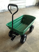 Herzberg HG-8028-75: 75L Wheel Barrow Dump Cart