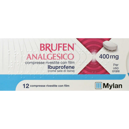 BRUFEN ANALGESICO 12 COMPRESSE RIVESTITE 400MG