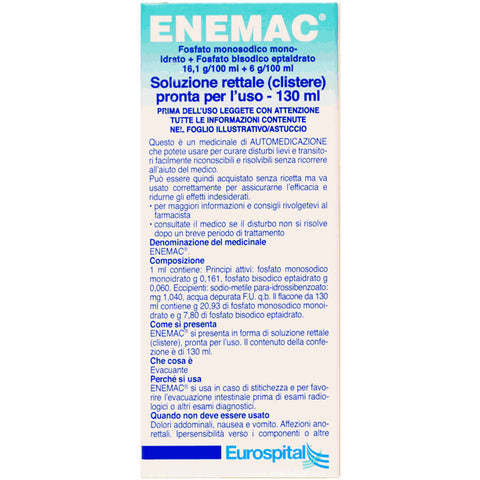 ENEMAC FLACONE 130ML 16,1+6/100ML