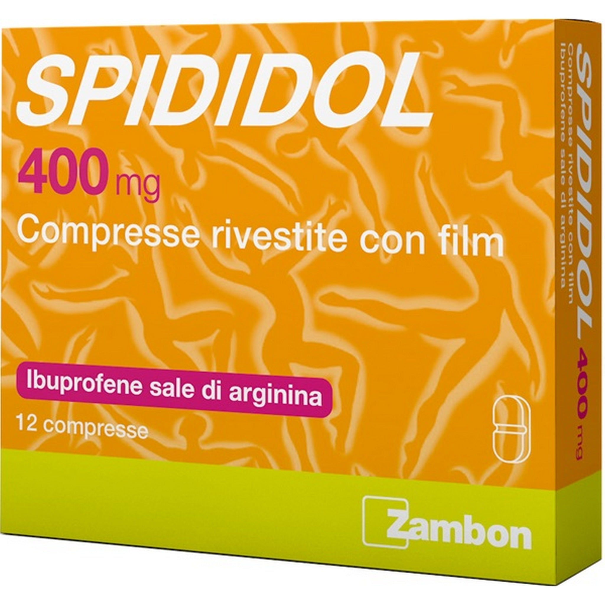 SPIDIDOL 12 COMPRESSE RIV 400MG