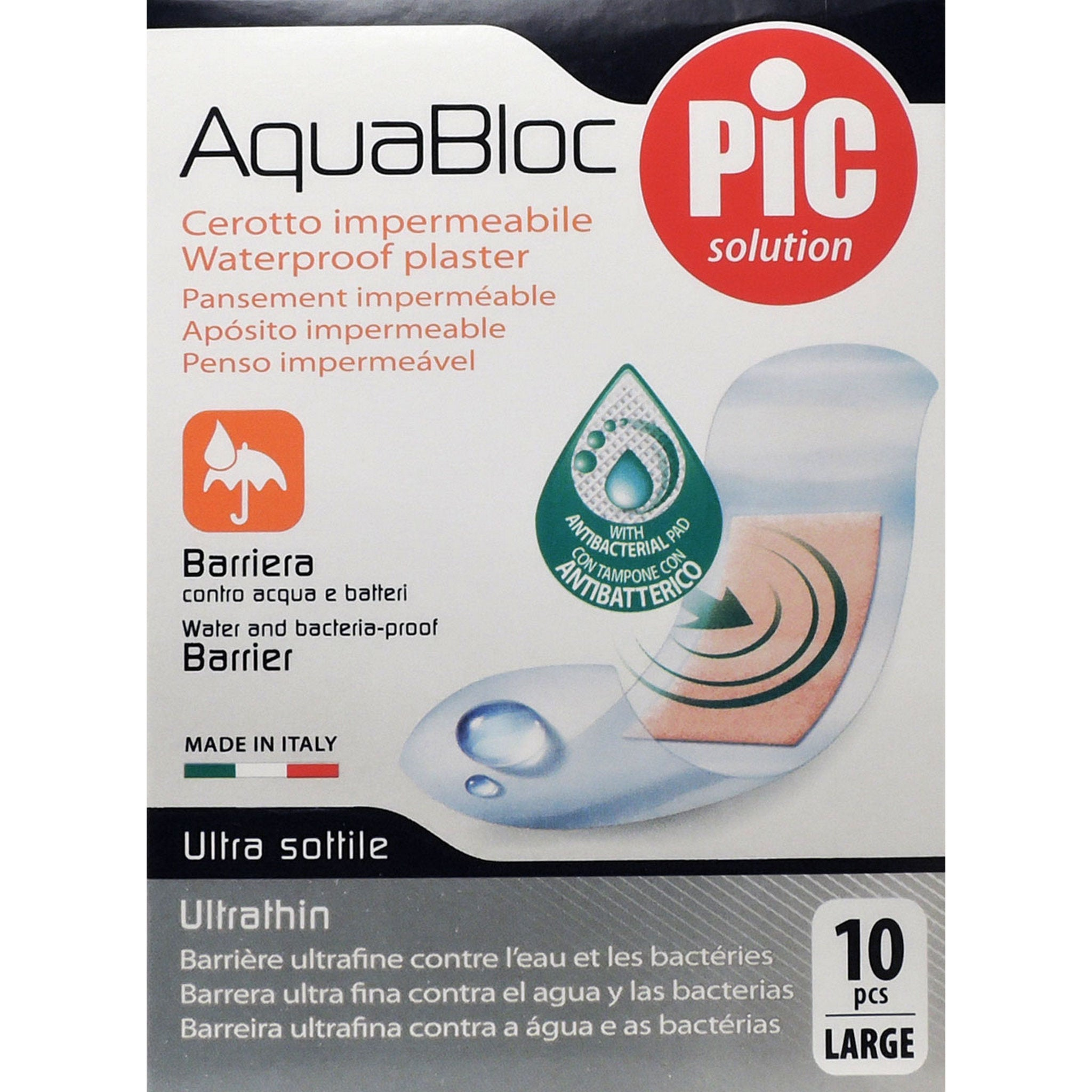 PIC AQUABLOC 25X72MM 10 CEROTTI