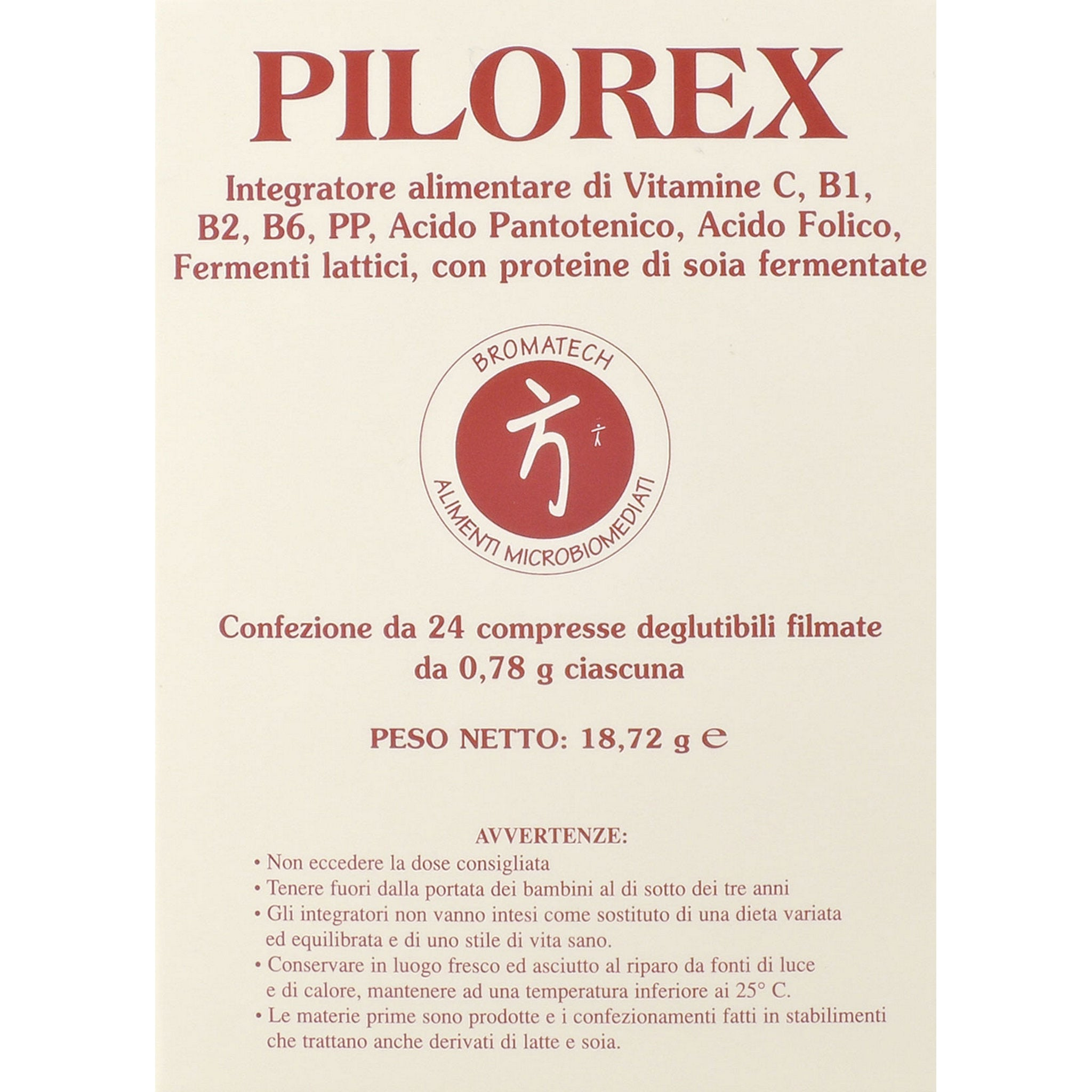 PILOREX 24 COMPRESSE