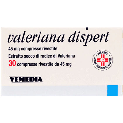 VALERIANA DISPERT 30 COMPRESSE RIVESTITE 45MG