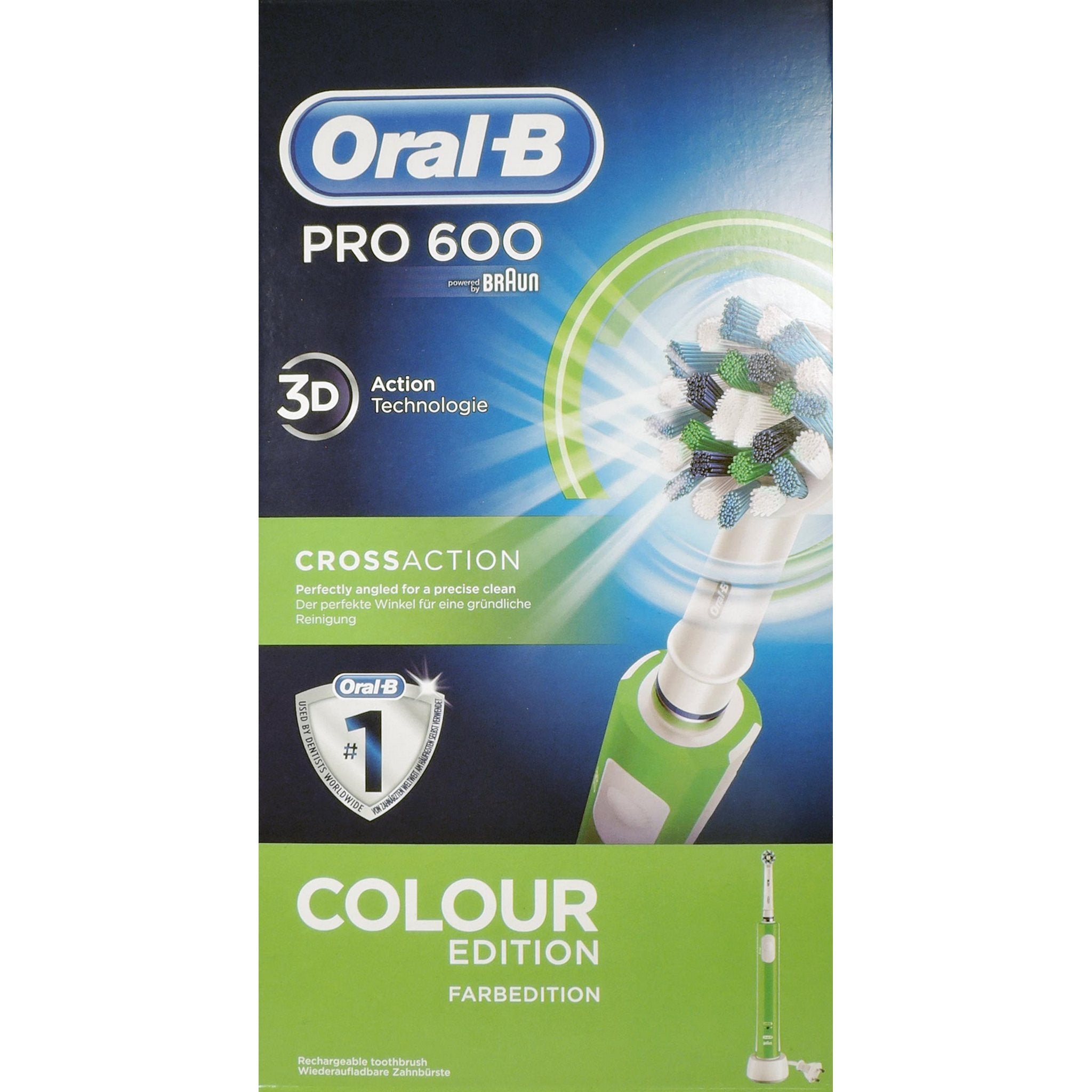 ORAL-B PRO 600 CROSSACTION VERDE