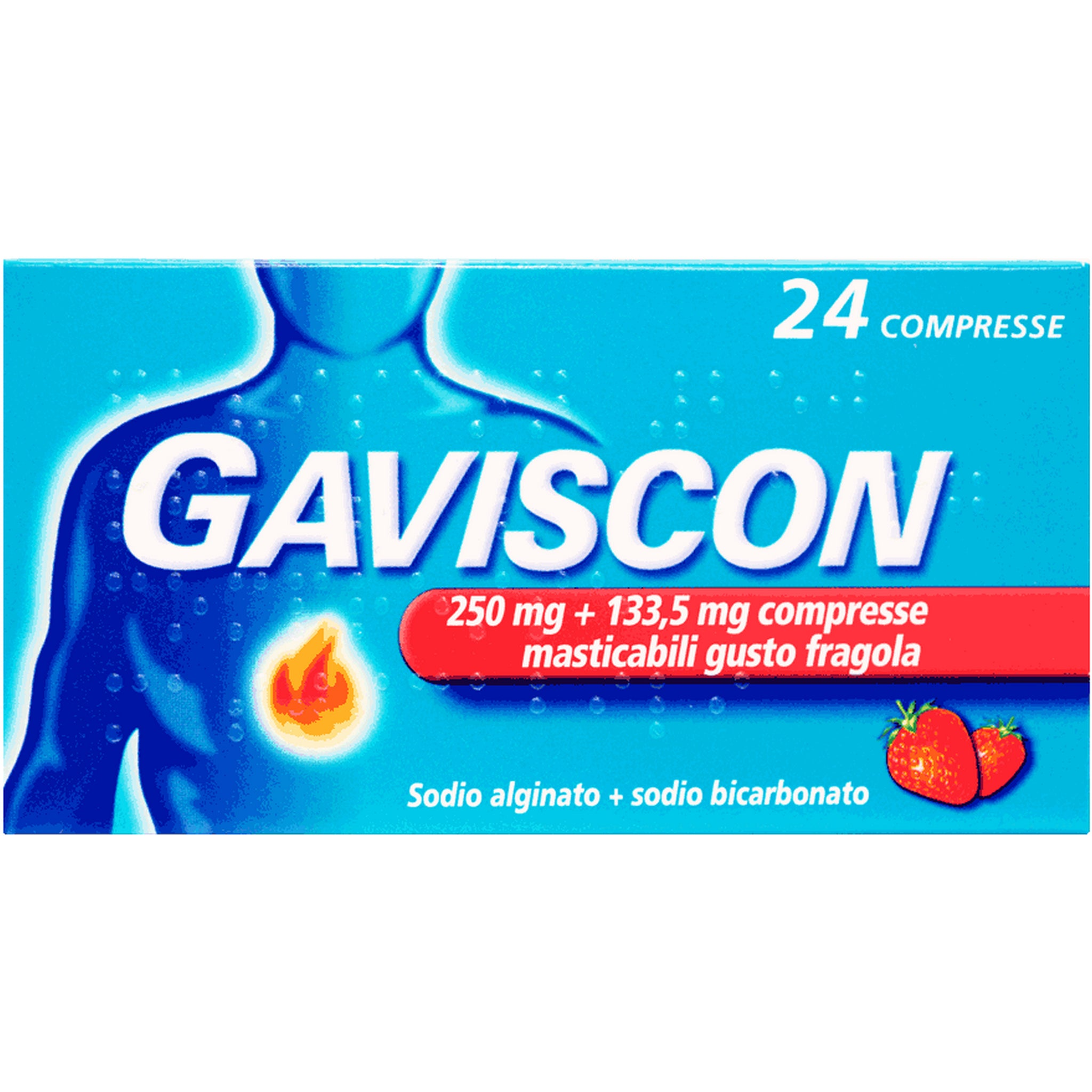 GAVISCON 24 COMPRESSE FRAGOLA 250+133,5MG