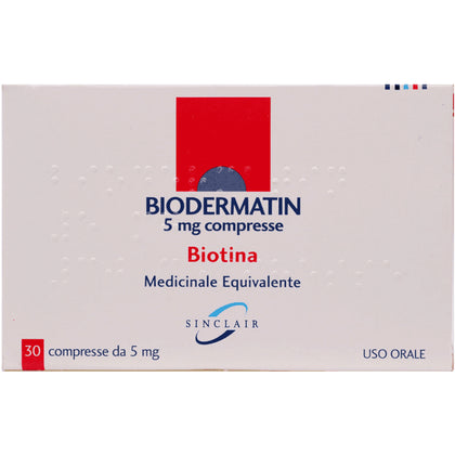 BIODERMATIN 30 COMPRESSE 5MG