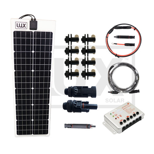 Canvas Mount Flexible Solar Panel Systems- Ideal for Boat Cover Solar Systems - 57 to 96 Watt