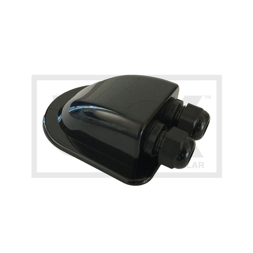 Black Roof Mount Cable Entry with IP68 Glands - Caravan and Marine