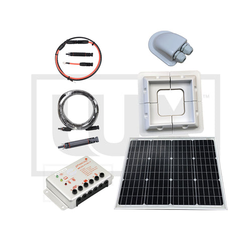 Marine Battery Maintenance Framed Solar Panel Systems - 50 to 100 Watt