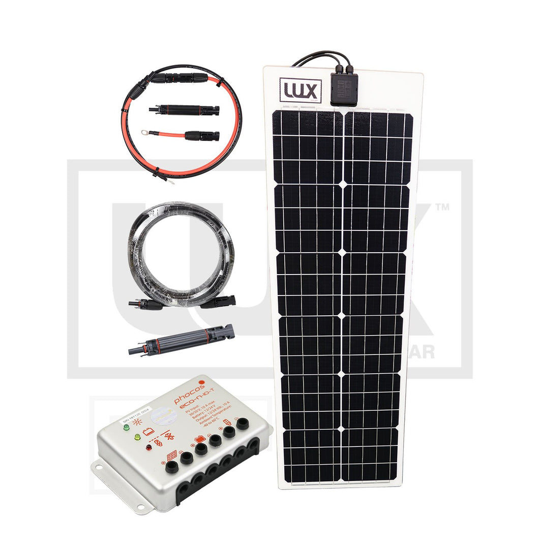 Complete Marine Flexible Solar Panel Systems - 50  to 200 Watt