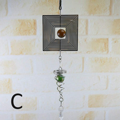 Wind Chimes Spinner Spiral Rotating Crystal Ball Hanging Windchime for Garden Home Outdoor Indoor