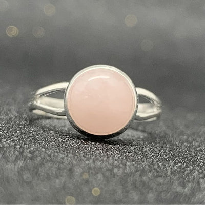 Handmade Bohemian Jewelry Gift Crystal Moonstone Tigereye Momiji Natural Stone Open Ring - Adjustable
