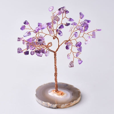 Natural Crystal Tree Amethyst Rose Quartz Aquamarine