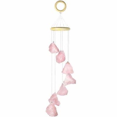 Raw Stones Crystal Wind Chimes Home Garden Decoration 17-21 Inches