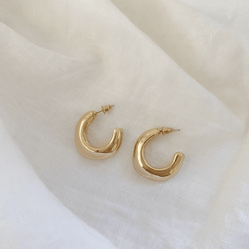 The Cornered Hoop earring