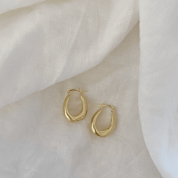 The Bold Oval Hoop Earring