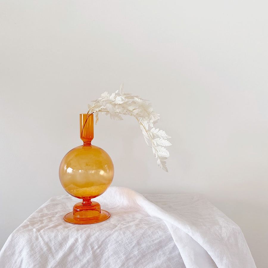 The Blood Orange Bulb Glass Vessel