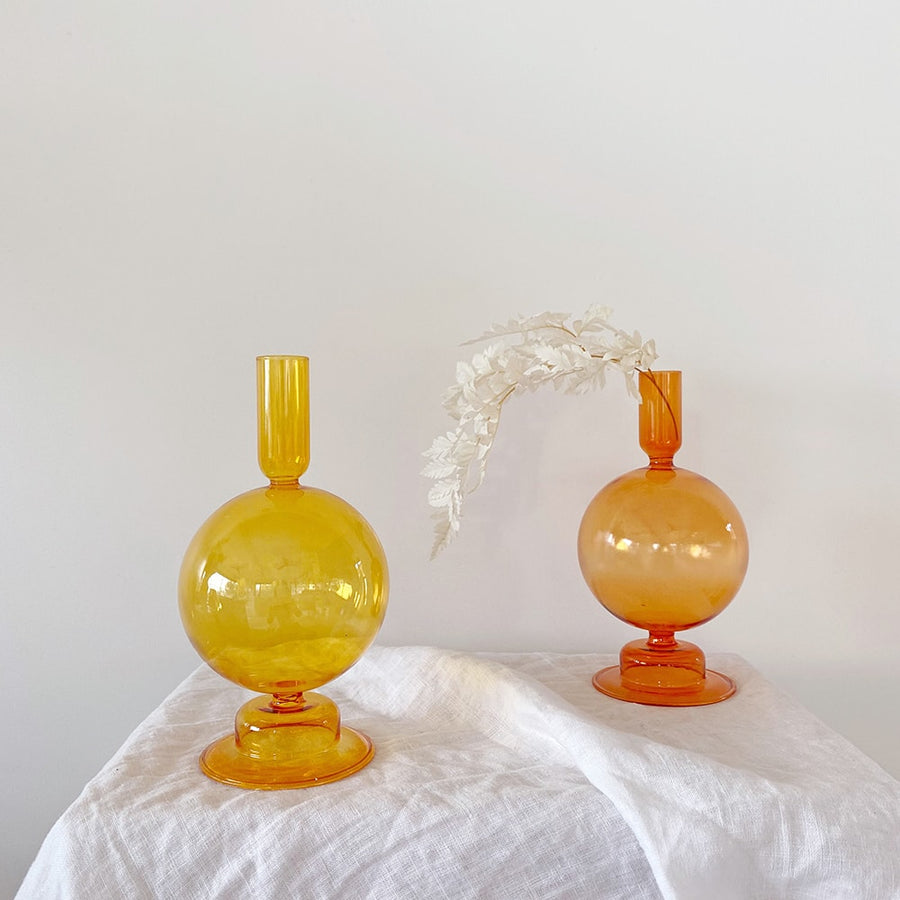 The Amber Bulb Glass Vessel
