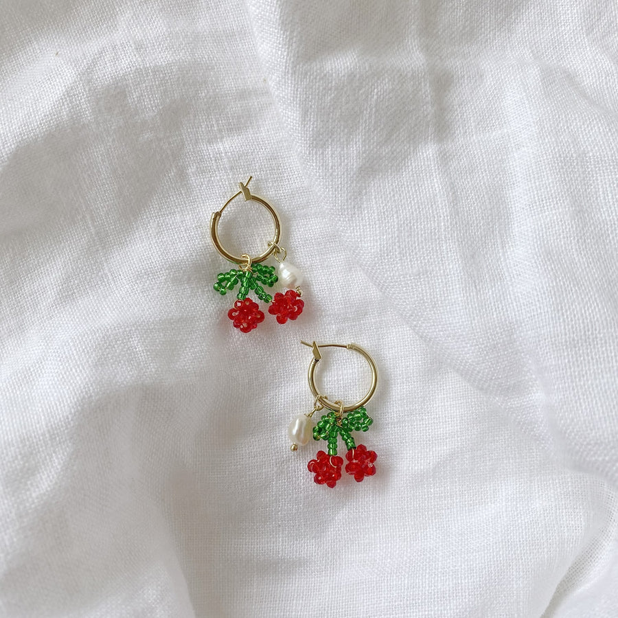 The Cherry Hoop earring