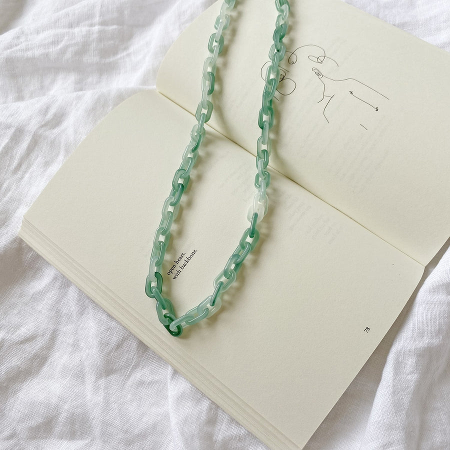 The Jade Resin Chain Necklace