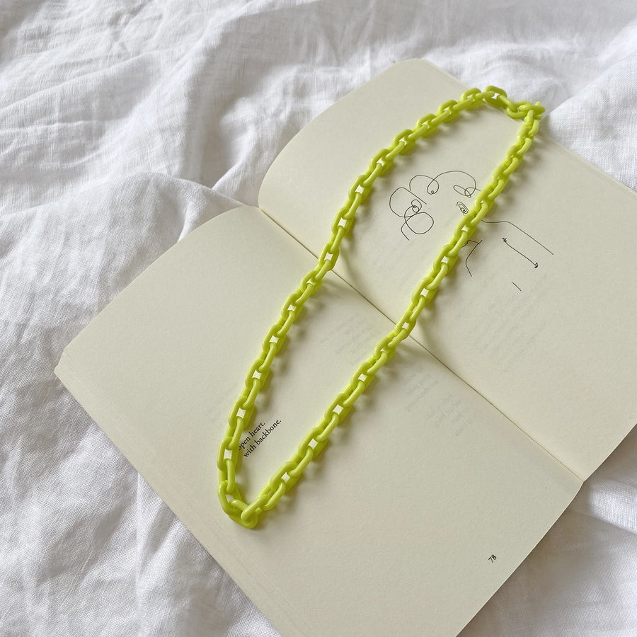 The Neon Resin Chain Necklace