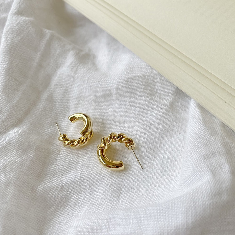 The Layered Rope Hoop earring
