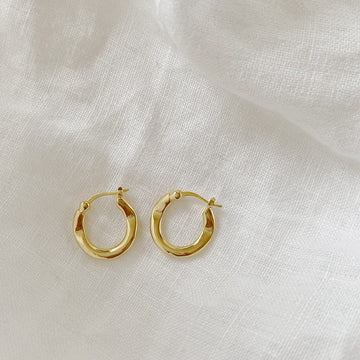 The Rippled Hoop earring
