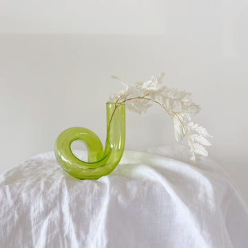 The Pistachio Squiggle Glass Vessel