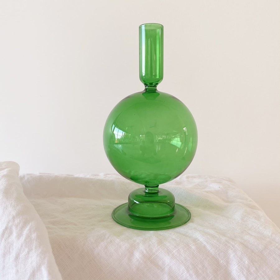 The Fern Green Bulb Glass Vessel