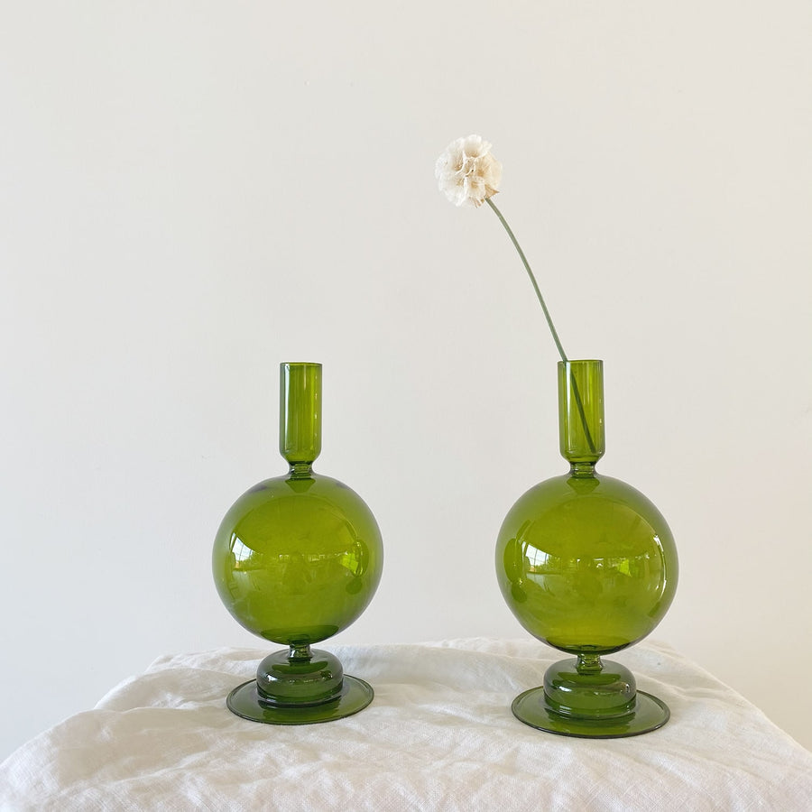 The Olive Bulb Glass Vessel