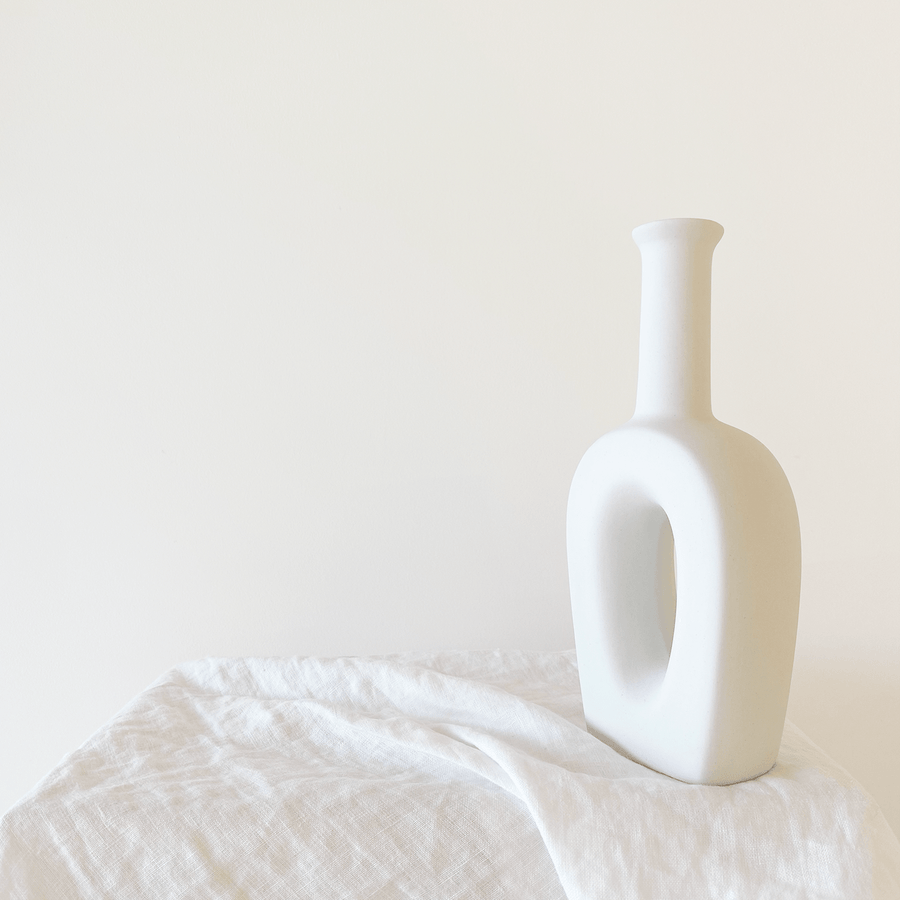 The Hollowed Long Neck Ceramic Vessel