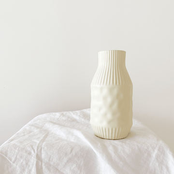 The Textured Bone Ceramic Vessel