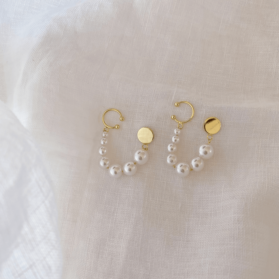 The Cuffed String of Pearls Earring