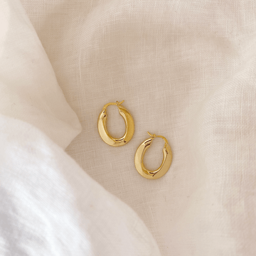 The Oval Gold Hoop earring