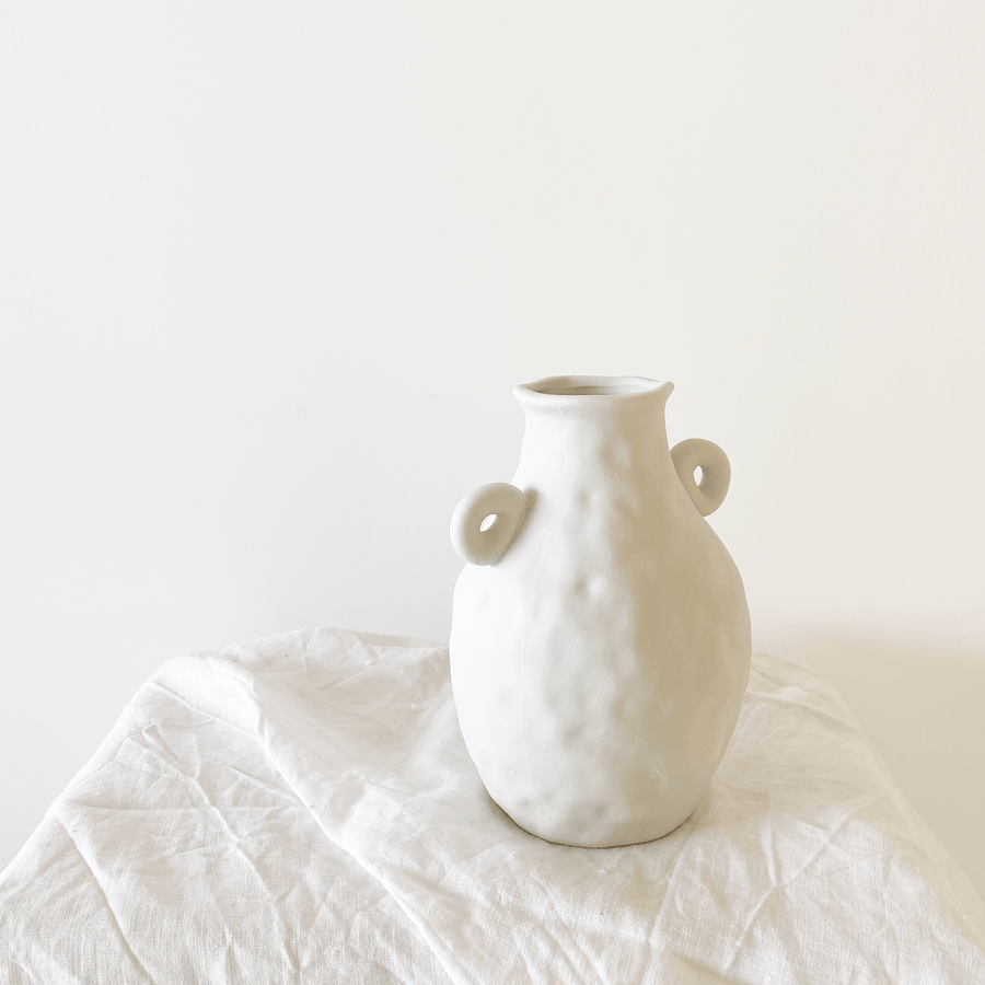 The Textured Handled Ceramic Vessel