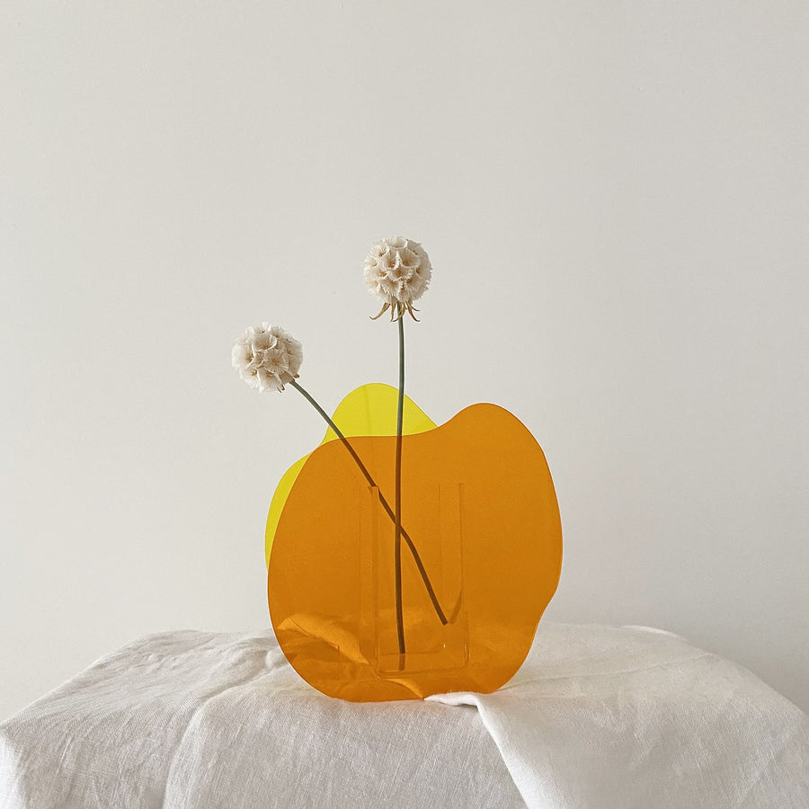 The Splatter Tangerine and Lemon Resin Vessel