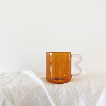 PREORDER The Amber Pink Soremo Glass Mug