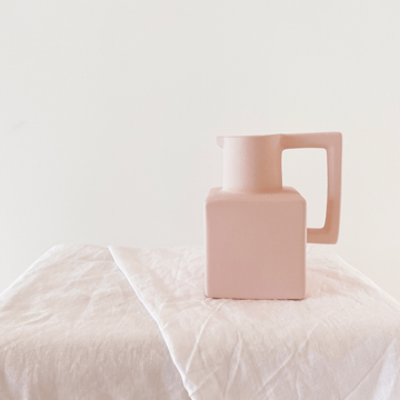 The Pink Cube Ewer Ceramic Vessel