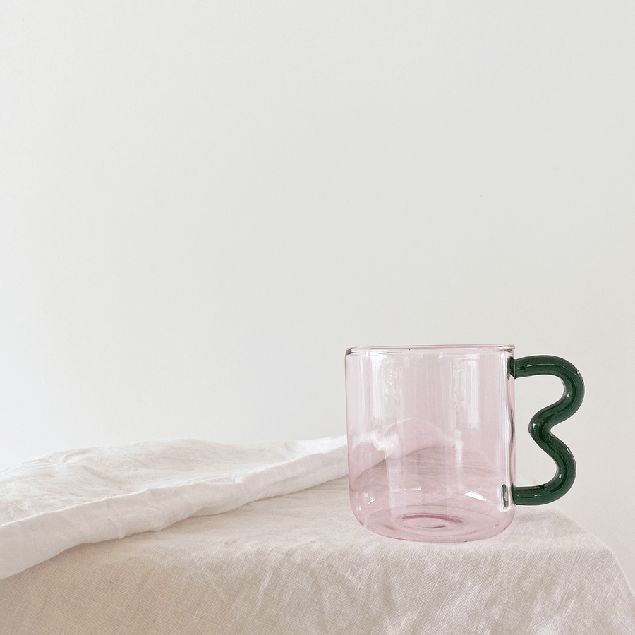 The Pink Smoke Soremo Glass Mug