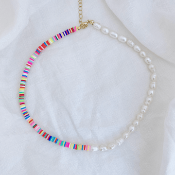 The Rainbow Pearl Choker