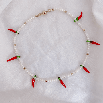 The Red Chilli Pearl Choker