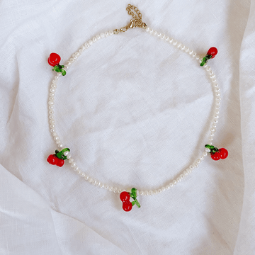 The Cherry Pearl Choker