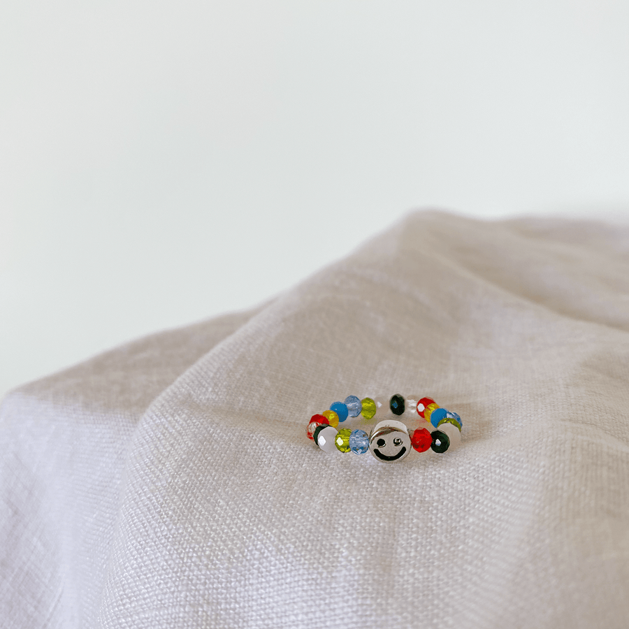 The Happy as Larry beaded ring