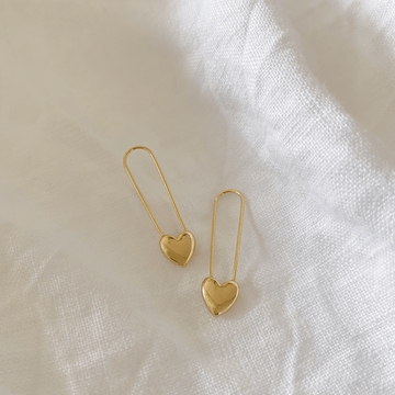 The Heart Pin earring
