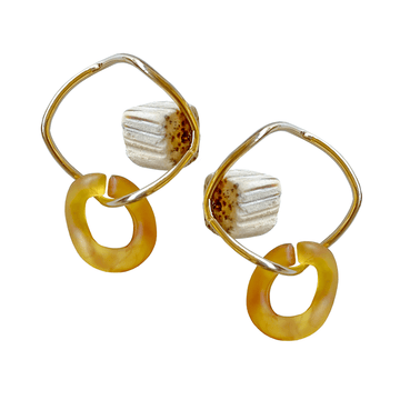 The Block Link earring