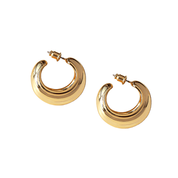 The Crescent Hoop earring