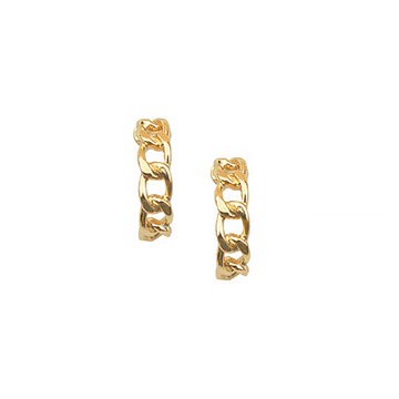 The Curb Chain Hoop earring