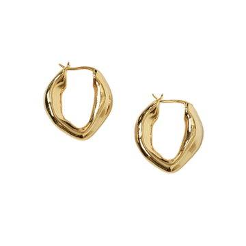 The Rippled Washer Hoop earring